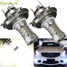 Car light  2pcs  White 80W H4 9003 HB2 LED DRL 12V Fog Light Bulb Headlight High Low Beam lamp Bulbs CARPRIE  #1226