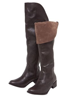 Bota Over the Knee Foot Way Lapela Marrom - Marca Foot Way