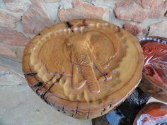 Elephant log carving 3 side Table Log Furniture, Handmade Furniture, Reclaimed Timber, Wood Carving, Elephant, Rustic, Table, Craftsman Furniture, Country Primitive
