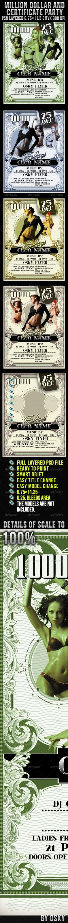 Buy Million Dollar And Certificate Party by osky on GraphicRiver. Million Dollar And Certificate Party inches psd files 300 dpi CMYK bleed area, Easy model Photo Repla. Retro Wedding Dresses, Vintage Wedding Invitations, Wedding Vintage, Vintage Tattoo Sleeve, Vintage Style Tattoos, Easy Model, Old Sewing Machines, Theme Color, Anime Artwork