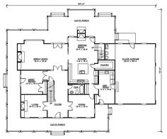 house plan 2109 b mayfield b first floor plan colonial cottage 1 12 story design with three bedrooms and 2 12 baths master downstairs full - House Plans With Porches