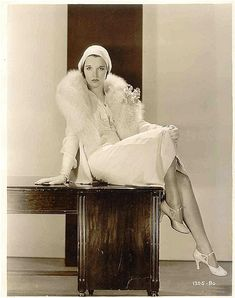 Louise Brooks, all in white