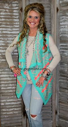 A Walk in the Park Mint Sweater Vest Shop now at www.gugonline.com