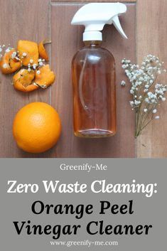 Zero Waste Cleaning: Orange Peel Vinegar Cleaner – Orange Peel Vinegar is perfect for zero waste cleaning! It makes a great DIY all-purpose cleaner. Natural Cleaning Recipes, Homemade Cleaning Products, Natural Cleaning Products, Orange Outfits, Cleaning Spray, Cleaning Hacks, Cleaning Vinegar, Cleaning Supplies, Diy Cleaners