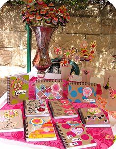handmade journals at craft fair