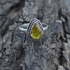 Natural Yellow Citrine Gemstone 925 Sterling by Subhamjewels