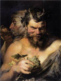 Two Satyrs - Peter Paul Rubens