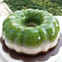 Puding cendol By Lapisan cendo Jelly Desserts, Pudding Desserts, Pudding Cake, Pudding Recipes, No Bake Desserts, Indonesian Desserts, Indonesian Cuisine, Asian Desserts, Puding Oreo