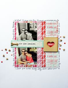 #papercraft #scrapbook #layout.  You Are Amazing // StephanieHowell.com