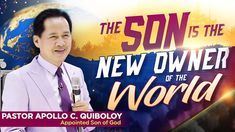 In this Manna of Revelation, Pastor Apollo C. Quiboloy clearly explains why he is the new owner of the world. Satan Lucifer, the devil, who used to dominate . Spiritual Enlightenment, Spirituality, Great Leaders, Son Of God, Praise And Worship, In The Flesh, Apollo, Sons, Knowledge
