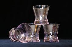 Pink Rocks Glasses, Pink Lowball Glasses, Set of 4 Pink Glasses, Vintage Feminist Bar Glasses, Pink #etsy #vintage #etsygifts #iartg #findsfromyesteryear