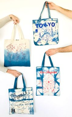 Add some color to your favorite Maptote with this fun Indigo Dye DIY! It's the perfect way to re-vamp your old totes and give new life to your beloved totes. Here at the Maptote offices, we took this opportunity to use up some of our samples and slightly damaged merchandise (so do note that some of these map designs are not available for sale!). We chatted with our friends over at @apprvl to get the inside scoop on best dye practices! Read on for a step by step tutorial using this at home kit!