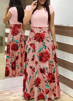 2019 Casual Maxi Dress Bohemian Print Plus Size Boho Summer Robe Women Dress Elegant Long Dresses Beach Clothes Vestidos Floral Print Maxi Dress, Boho Dress, Dress Casual, Chic Dress, Women's Casual, Casual Office, Beach Casual, Work Casual, Casual Fall