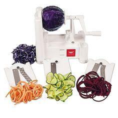 Paderno World Cuisine Tri-Blade Vegetable Spiralizer Slicer