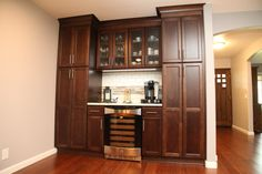 Kitchen bar with wine chiller Wine Chiller, Tall Cabinet Storage, Kitchen Remodel, Kitchens, Bar, Furniture, Home Decor, Wine Coolers, Kitchen