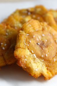How to make perfect classic Tostones in 5 simple steps, all you need is oil, green plantains, and flaked salt!