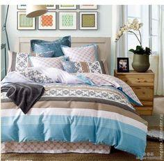 Купить Сатин для постельного белья Свежесть (с компаньоном) - хлопок, ткани для постельного, для постельного