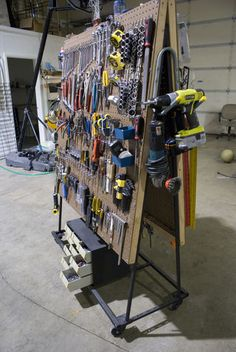 Build a Peg Board Tool Cart