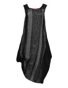 Igor Dobranic Striped linen bubble dress in Black / White