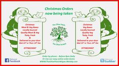 the no hassle way to order your meat & Veg or Veg Box this christmas - wigan / WN Postcodes - all locally sourced and delivered to your door.