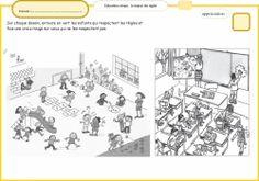 CP : Fiche pour travailler en classe sur respect des autres et situations dangereuses