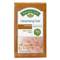 Nature's Gate Cleansing Bar, Oatmeal, 5 Ounce (Pack of 2) by Nature's Gate. $7.58. Triple milled to ensure an even texture, consistently rich and gently cleanse skin with their rich, luxurious, creamy lather. Our plant and vegetable based bar soaps feature naturally derived and biodegradable ingredients soaps. Free of parabens, phthalates, delta, sulfates, synthetic fragrance, colorants, animal derived ingredients and by-products. Fragrance free cleansing bar with oatmeal an...