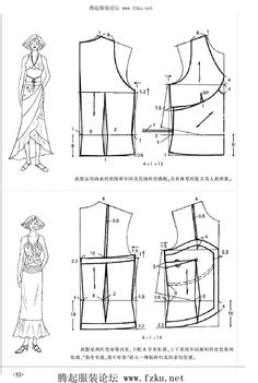#ClippedOnIssuu from 服装裁剪实用手册(上装篇) (1) Summer Dress Patterns, Doll Dress Patterns, Sewing Patterns Girls, Clothing Patterns, Shirt Patterns, Pattern Sewing, Crop Top Designs, Plus Size Sewing, Make Your Own Clothes