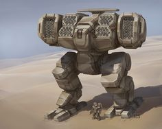 A new mech design commissioned by ~God-and-Davion for a fan TRO project (though not TRO 3063). While not a standard lineart TRO illustration, I did leave specific unit markings and battle damage of...
