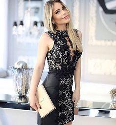 Power Dress ⭐️⭐️⭐️⭐️ Acessem nosso site e confiram!  www.claudiaoliveiraofficial.com.br digite na busca   vestido Manuela valor 498,00 #claudiaoliveiraofficial #vestido #partydress #black #summer17