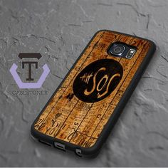 5 Second Of Summer Fans Quotes On Wood Samsung Galaxy S6 Edge Black Case