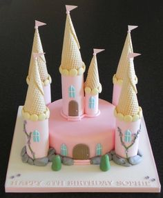 Image result for simple princess castle cake