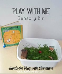 'Play with Me' by Marie Hall Ets Sensory Bin | Stir the Wonder #handsonplay #bfiar #kbn #preschool