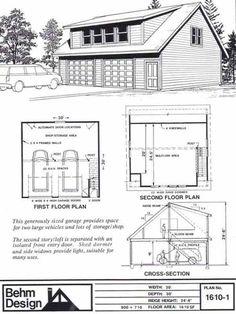Garage Plans With Loft, Two Car Garage, Dream Garage, Garage Ideas, Loft  Plan, Garage Addition, Garage Apartments, Garage Design, Detached Garage  Two Story Garage Apartment Plans