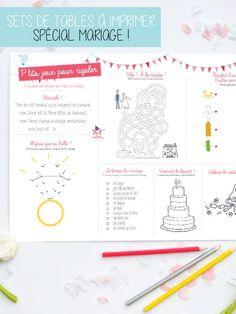Set de table pour les enfants à un mariage !