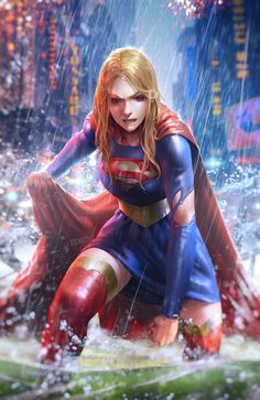 """These Batgirl and Supergirl pieces by . are the only things I have room for in my mind"" Marvel Dc Comics, Math Comics, Dc Comics Art, Dc Comics Girls, Robin Comics, Marvel Girls, Supergirl Comic, Supergirl Drawing, Supergirl Season"