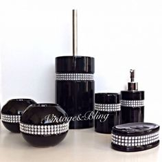 Superb Classy Black Bathroom Accessories Set #3 Bathroom Decor Sets   Http://www