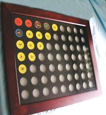 Collecting casino chips? Display your vintage Nevada Casino chips in this solid wood Rich Brown Frame
