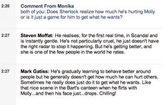 Stephen and Mark on Sherlock and Molly