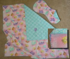 Receiving Blanket with Matching Burp Cloth