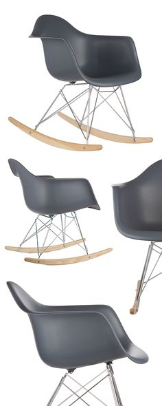 Rocking chairs aren't just for grandparents anymore. This contemporary design is based on the landmark aesthetics of the first industrially manufactured chairs. The chair's mold was created in the spir...  Find the Modern Ash Wood Rocker, as seen in the Mid-Century's Greatest Hits Collection at http://dotandbo.com/collections/mid-centurys-greatest-hits?utm_source=pinterest&utm_medium=organic&db_sku=DBI0022-gray