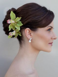 Exotic Orchid Flower Hair Pin