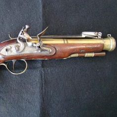 Flintlock Blunderbuss Pistol, British. Find this and other arms and armor at CuratorsEye.com.