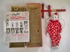 """#801_Teto.  This is a great clown with good box. But the main reason I wanted this was the original 1953 Hazelle's product """"catalog"""".  Purchased April 17, 2015 online for $30.00 + $9.00 s&h.  I didn't think too long about it, because there were four watchers on it before I even found it two days after it was first listed."""