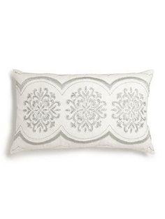 Callisto Home Embroidered Linen Pillow - No Color