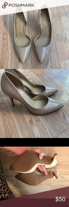 Jessica Simpson Nude Heel Sexy and Classic AF! Nude pointed toe heel. Wear with anything! Worn once for my wedding shower! Some scuffing on heel. So classic and sexy at the same time! Like very new! Jessica Simpson Shoes Heels