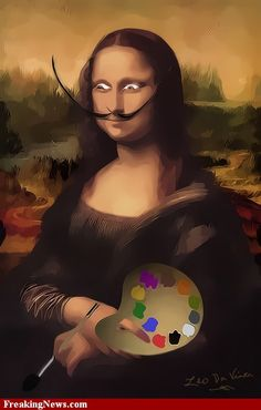 MONA LISA......SALVADOR DALI....BY FREAKINGSNEWS.......