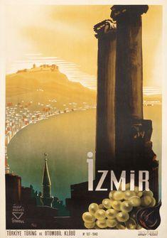 Izmir by Hulusi, Ihap (1940) | Shop original vintage posters online: www.internationalposter.com