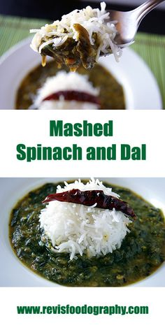 A healthy and easy mashed Spinach and Dal made the Indian way and perfect with a bowl of steamed rice.