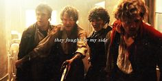 GIF. Combeferre...oh...the way he reaches out to protect Joly...