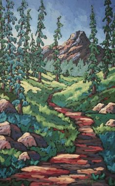 Jennifer Woodburn - Heading to Higher Ground 48x30 inches acrylic on canvas